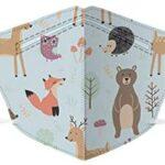 10 para Niños De 1 a 4 Años, 4 Capas Desechable para Bebés, Transpirable, con Dibujos Animados, 4 Capas De Protección Saft con Cómodo Lazo para La Oreja para Niños Y Niñas