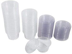 4 Tamaños 50 Unids de Plástico Clear Sauce Chutney Cajas con Tapa Comida Para Llevar Caja de Embalaje 1 oz, 2 oz, 3 oz, 4 oz[4oz]