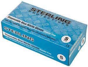 Guantes desechables de nitrilo azul de alta calidad, 100 unidades, sin polvo, AQL 1,5 - Guantes prémium de Gocableties, azul, Small - Size 7