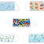 Akofon 50pcs mascarillas desechable de niño con 5 dibujos diferentes triple capas con alta filtración bacteriana - Entrega rápida - Stock en España