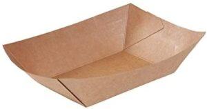 BIOZOYG Cuenco Tipo Barco de cartón con Recubrimiento orgánico para Aperitivos I vajilla desechable Biodegradable I Plato para Servir Salsas I Cuenco para Llevar 400 ml 250 Piezas