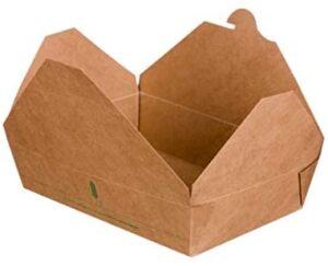 Caja para Take Away, Contenedor comida para llevar -100% Biodegradable y Compostable- Paquete con 50 unidades (1480ml (21x16x5cm))