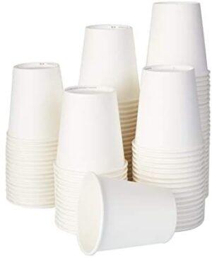 ECO BRO Vasos De Papel Biodegradables Compostables Ecológicos 200 ml Desechables para Agua Bebidas Calientes y fría (100)