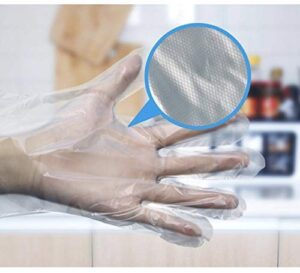 MAGIC SELECT Guantes desechables de plástico para preparación de alimentos, aptos para alimentos, talla única, transparentes (200, talla unica)