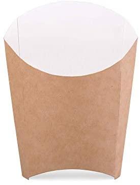 Paquete de 200 cajas de papas fritas de cartón kraft tamaño L portasfichas contenedor de comida rápida desechable caja ecológica reciclable (200, L)