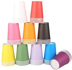 Vasos Papel,200 Piezas Vaso de Papel Vasos Papel Desechable Tazas de fiesta Vasos Papel colores Papel Café Té Vasos Vasos Papel Fiesta Vasos Carton de Colores Biodegradables Vasos Papel Cumpleaños