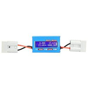 Analizador de potencia de medidor de vatios de CC, 0-100A 0-60V Herramienta de analizador de potencia de medidor de potencia de vatios de CC de alta precisión