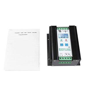 Atyhao Controlador de Sistema híbrido Solar eólico, regulador de Carga de Impulso de Control Inteligente Digital de 12 V eólica de 300 W y Panel Solar de 200 W