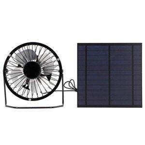 Conjunto de paneles solares fotovoltaicos de invernadero de ventilador de refrigeración con panel solar de 5W