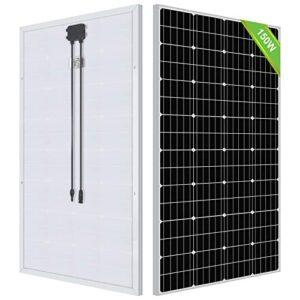 ECO-WORTHY 150 Watts panel solar monocristalino de 12 voltios aplicable para autocaravana, barcos, cobertizo, caravana, hogar, sistema de energía solar fuera de la red (Panel solar 150W)