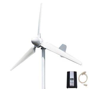 FLTXNY POWER 3000W 48V Turbina Eólica Generador de Viento de 3 Palas 3KW Aerogeneradores Horizontal Alta Eficiencia Con controlador de carga solar eólica híbrida LCD MPPT