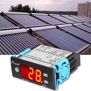 JULYKAI Controlador de Temperatura diferencial, Controlador de Temperatura del Calentador de Agua Solar Termostato con Sensor Pantalla Digital Controlador del Calentador Solar