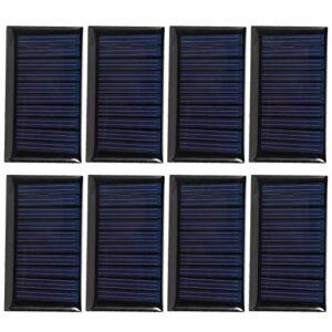 Ladieshow Mini Panel Solar, 8PCS 30MA 5V Mini Paneles de células solares DIY Placa de epoxi Solar Materiales de Juguete eléctrico Cargador de células fotovoltaicas