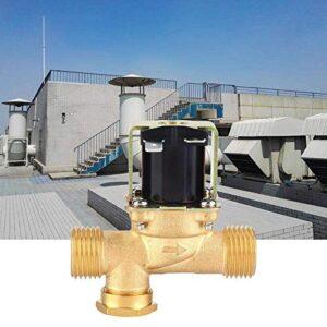 MOZUSA Válvula solenoide eléctrica 1/2 12V / 24V de latón de Agua 0.02-0.8MPA Una Forma de válvula de Entrada Normalmente Cerrada para Calentadores de Agua solares (24V)