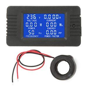 PZEM-022 Pantalla digital LCD Panel de energía de potencia Probador digital de CA KWh Medidor de voltios y amperios con tipo cerrado CT 100A para la industria