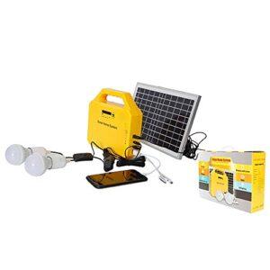 Panel Solar de polisilicio de 3 W / 6 W / 10 W, sistema de generación portátil para el hogar al aire libre, paneles solares de CC, sistema de energía del generador de carga de iluminación