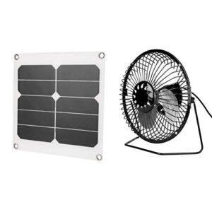 Rendimiento estable 20W Ventilador solar para acampar Panel solar Ático solar USB Alta tasa de conversión, para actividades al aire libre