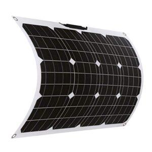 SARONIC Panel Solar Mono ETFE Flexible de 50W 18V con MC4 para Barco, Carpa, RV, Coche, Remolque o Cualquier otra Superficie Irregular