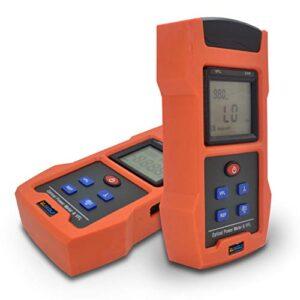 SUWOLF -50dBm~+26dBm FTTH Medidor de Potencia Fibra Óptica/Fiber Optical Power Meter,850nm~1625nm Portátil Probador de Fibra Optica Test con Adaptador SC+FC y 30mW 30KM(18.6mi) VFL