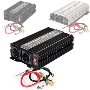 TecTake Inversor eléctrico Onda modificada 12V a 220V convertidor de Voltaje - Varios Modelos - (Typ 2 | no. 400977)