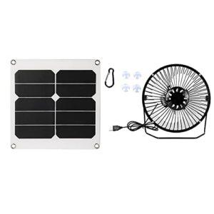 Ventilador solar para acampar USB Solar Attic Fabricación profesional Ventilador solar para ático 20W, para actividades al aire libre
