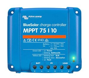 Victron Energy 8719076025306 Controlador de carga solar, MPPT, 75/10, 75/15 y 100/15, AZUL