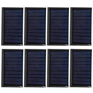 zhoul 8PCS 30MA 5V Mini Paneles de células solares DIY Placa de epoxi Solar Cargador de células fotovoltaicas de silicio policristalino